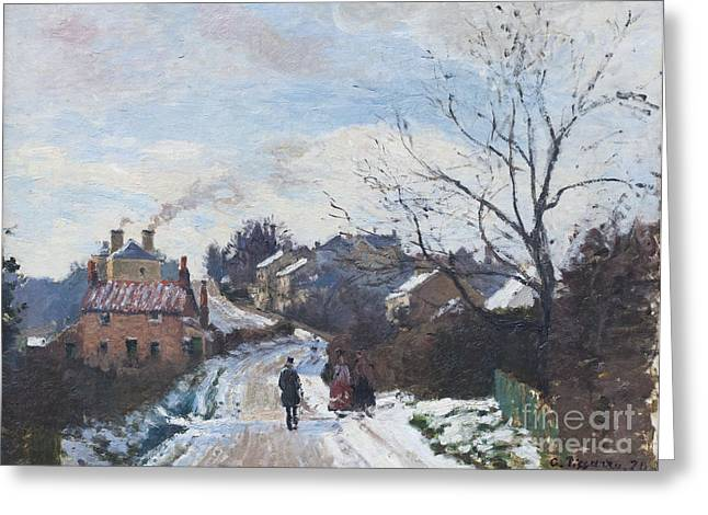 Camille Pissarro Photographs Greeting Cards - Fox hill upper Norwood by Camille Pissarro Greeting Card by Roberto Morgenthaler