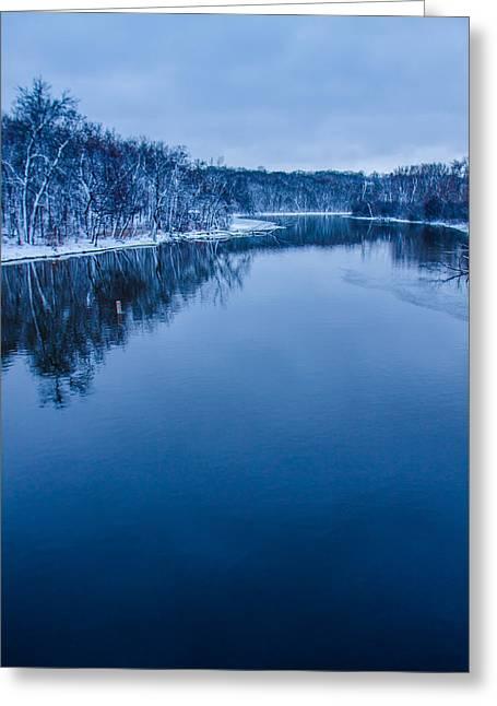 Fox River Greeting Cards - Fox River Blues Greeting Card by Lauri Novak