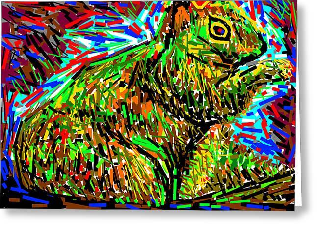 Fox Squirrel Greeting Cards - Fox Squirrel Greeting Card by Anand Swaroop Manchiraju