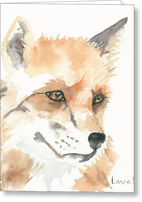 Fox Kit Paintings Greeting Cards - Fox Study 1 Greeting Card by Kimberly Lavelle