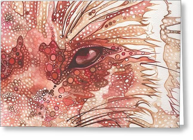 Fox Greeting Card by Tamara Phillips