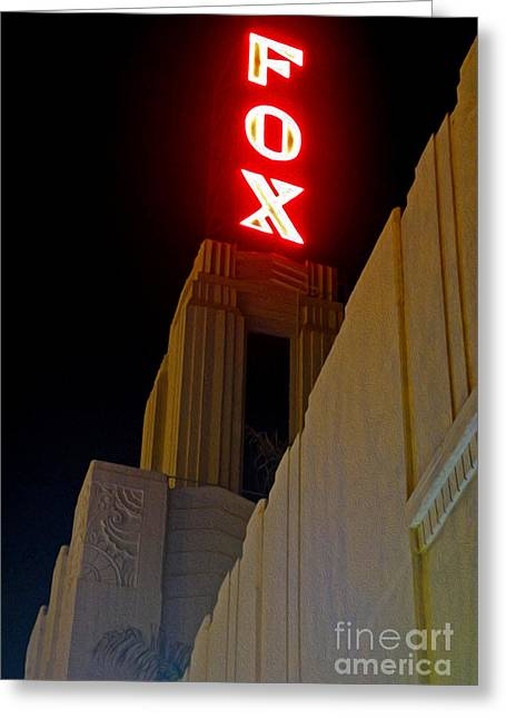 Downtown Pomona Greeting Cards - Fox Theater - Pomona - 02 Greeting Card by Gregory Dyer
