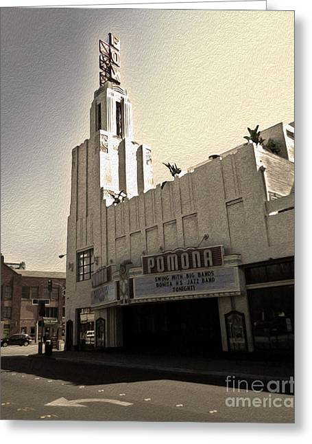 Downtown Pomona Greeting Cards - Fox Theater - Pomona - 05 Greeting Card by Gregory Dyer