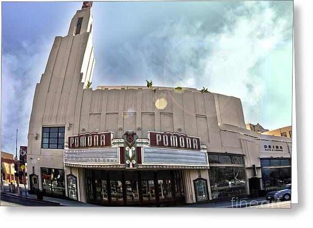 Downtown Pomona Greeting Cards - Fox Theater - Pomona - 06 Greeting Card by Gregory Dyer