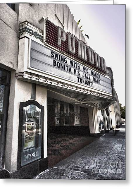Downtown Pomona Greeting Cards - Fox Theater - Pomona - 10 Greeting Card by Gregory Dyer