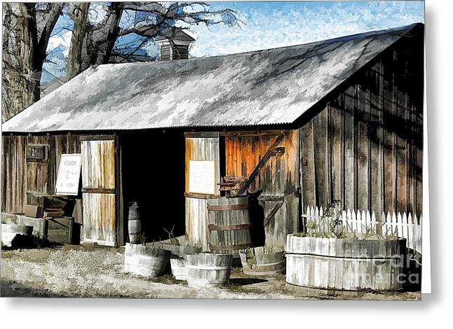 Tasting Rooms California Greeting Cards - Foxen Winery Greeting Card by Kathleen Gauthier