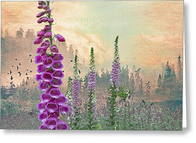 Jeff Burgess Greeting Cards - Foxglove in Washington State Greeting Card by Jeff Burgess