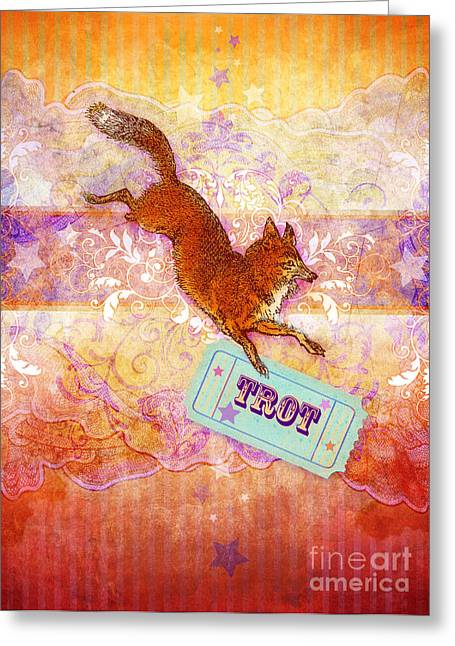 Animal Wallpaper Greeting Cards - Foxtrot Greeting Card by Aimee Stewart