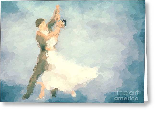 Dancer Art Greeting Cards - Foxtrot Greeting Card by John Edwards