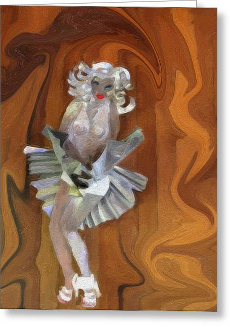 Nude Monroe Greeting Cards - Foxy Lady Greeting Card by David Millenheft