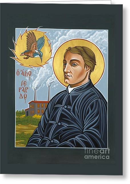 Fr. Gerard Manley Hopkins The Poet's Poet 144 Greeting Card by William Hart McNichols