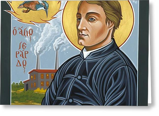 Fr. Gerard Manley Hopkins The Poet's Poet Greeting Card by William Hart McNichols