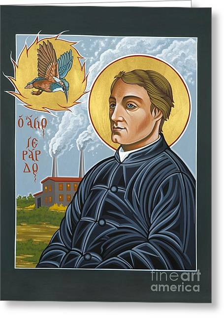 Manley Greeting Cards - Fr. Gerard Manley Hopkins The Poets Poet 144 Greeting Card by William Hart McNichols