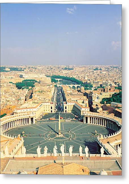 Day Sunlight Greeting Cards - Fr San Pietro Cathedral Vatican Greeting Card by Panoramic Images