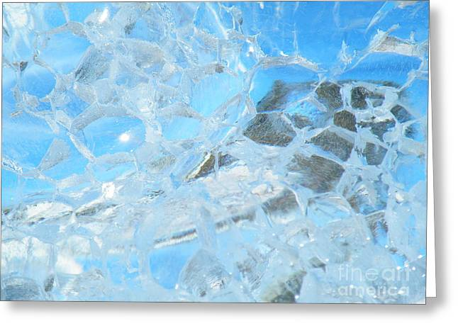 Ice Greeting Cards - Fracked  Greeting Card by Brian Boyle
