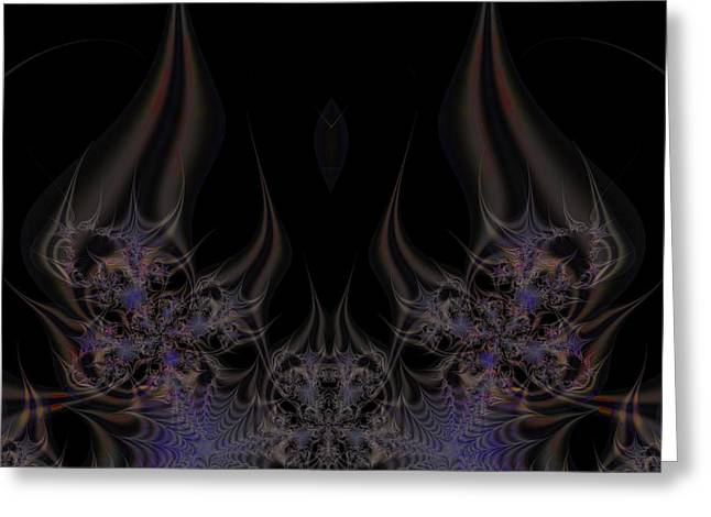 Fractal 00052 Greeting Card by George Cuda