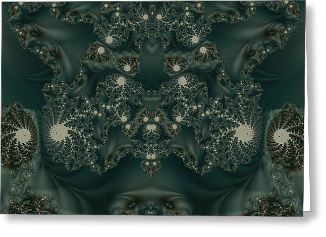 Abstract Style Greeting Cards - Fractal 00079 Greeting Card by George Cuda