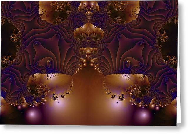 Fractal 00123 Greeting Card by George Cuda