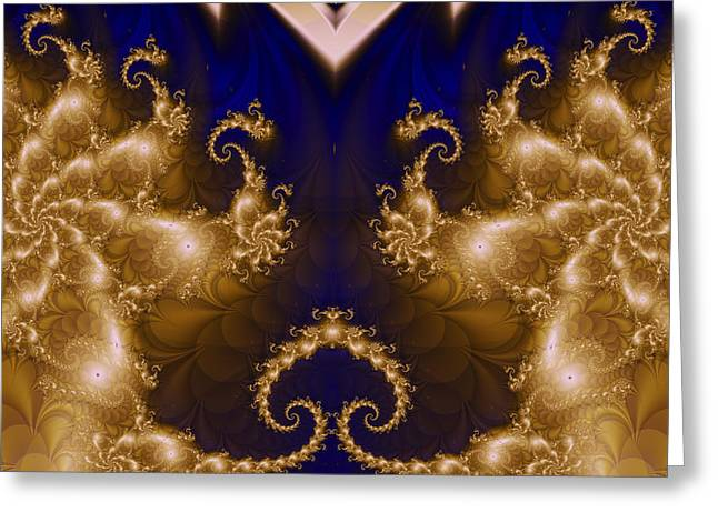 Fractal 00141 Greeting Card by George Cuda