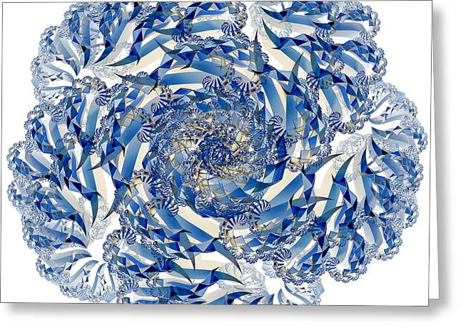 Illuminate Greeting Cards - Fractal 4 Greeting Card by Steve Purnell