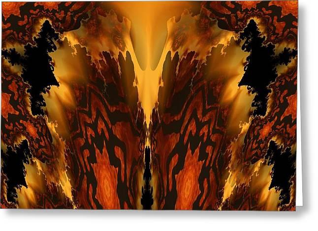 Maria Urso Digital Art Greeting Cards - Fractal Abstract 15-01 Greeting Card by Maria Urso