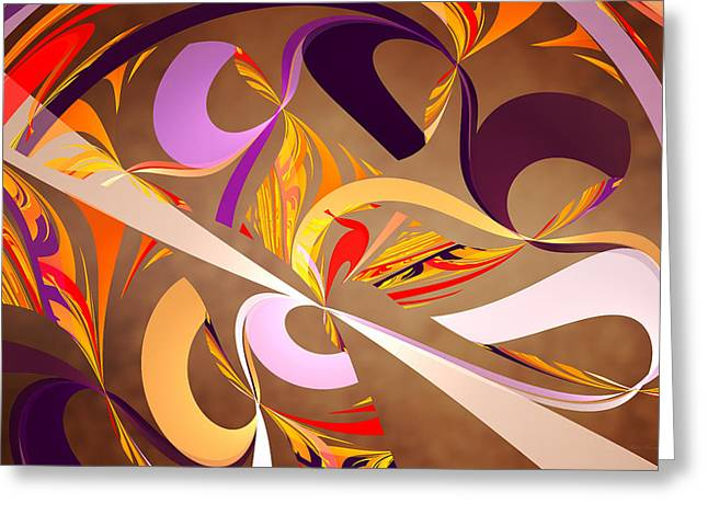 Fractal - Abstract - Space Time Greeting Card by Mike Savad