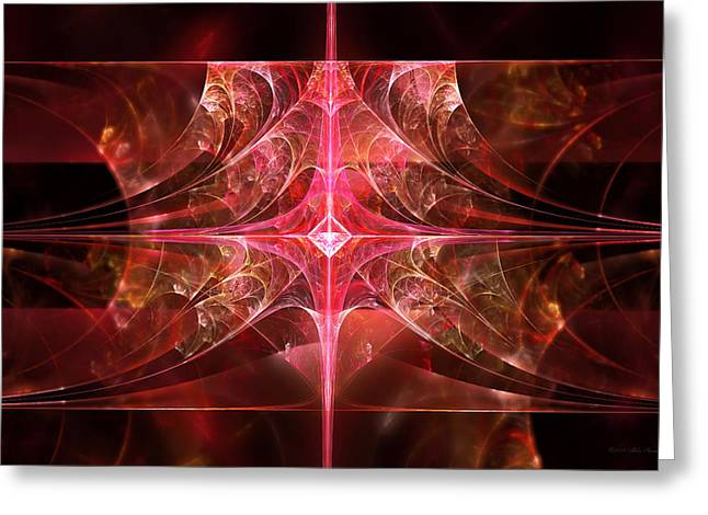 Fractal - Abstract - The essecence of simplicity Greeting Card by Mike Savad