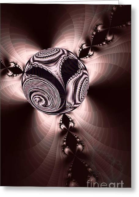 Fractal Orbs Greeting Cards - Fractal Ball Greeting Card by Elizabeth McTaggart