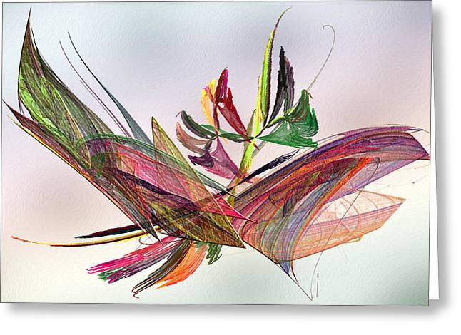 Color Green Greeting Cards - Fractal Butterfly Greeting Card by Camille Lopez