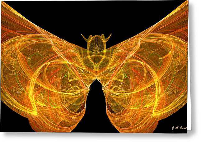 Fractal Butterfly Greeting Card by Michael Durst