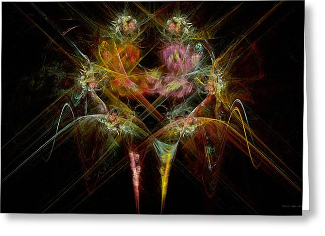 Mikesavad Digital Greeting Cards - Fractal - Christ - Angels Embrace Greeting Card by Mike Savad