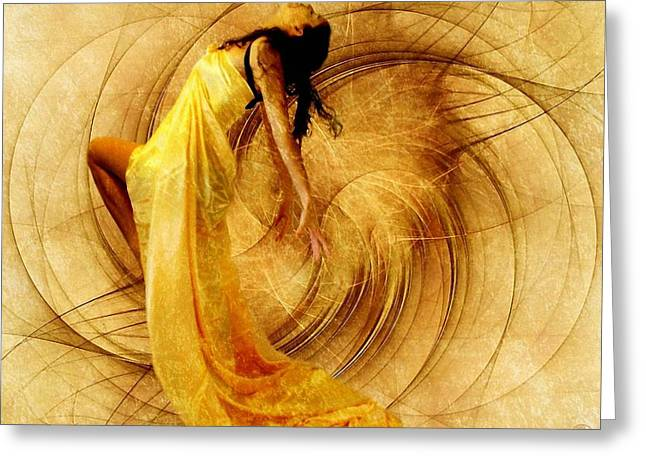 Dance Of Joy Greeting Cards - Fractal dance of joy Greeting Card by Gun Legler