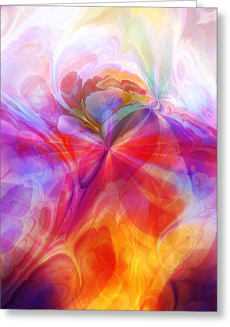 Meditative Greeting Cards - Fractal Desire Greeting Card by Lutz Baar