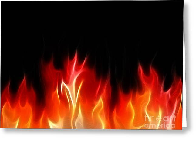 Engulfing Greeting Cards - Fractal Flames Greeting Card by Antony McAulay
