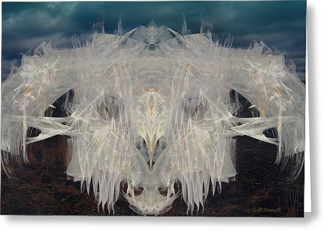 Angus Steer Greeting Cards - Fractal Ghost Steer Greeting Card by Diane Parnell