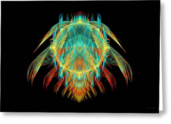 Creepy Digital Art Greeting Cards - Fractal - Insect - I found it in my cereal Greeting Card by Mike Savad