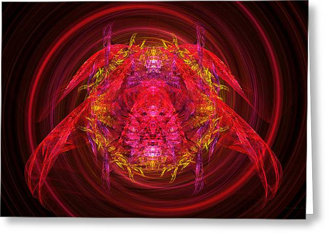 Creepy Digital Art Greeting Cards - Fractal - Insect - Jeweled Scarab Greeting Card by Mike Savad