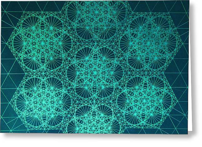 Genius Greeting Cards - Fractal Interference Greeting Card by Jason Padgett