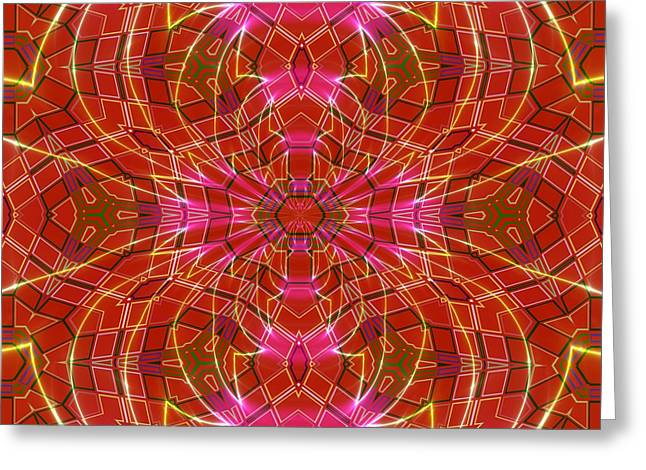 Geometric Image Greeting Cards - Fractal - Mediterranean - Tiled Greeting Card by Liane Wright