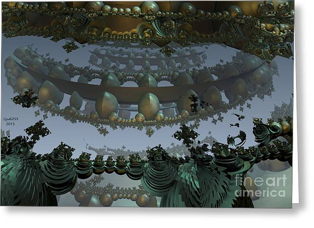 Algorithmic Abstract Greeting Cards - Fractal Necklace Greeting Card by Melissa Messick