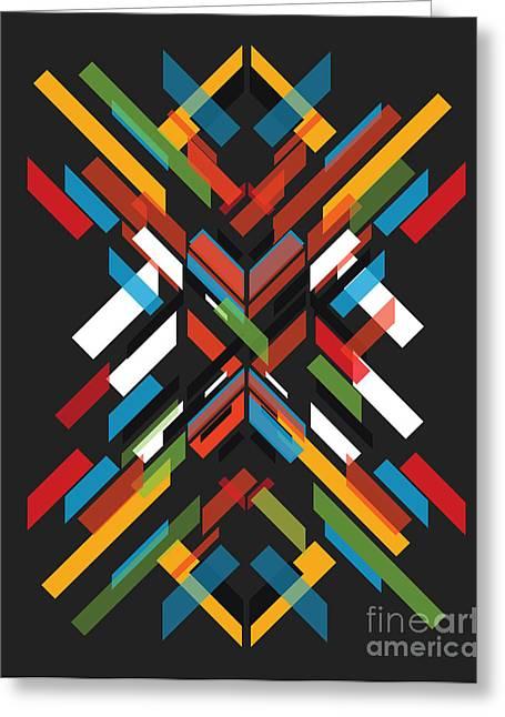 Shape Digital Art Greeting Cards - Fractal Pattern Greeting Card by Budi Satria Kwan