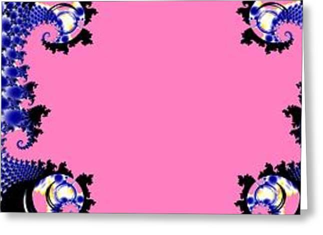 Cloth Greeting Cards - Fractal Sari Series - 6 Greeting Card by M Rao