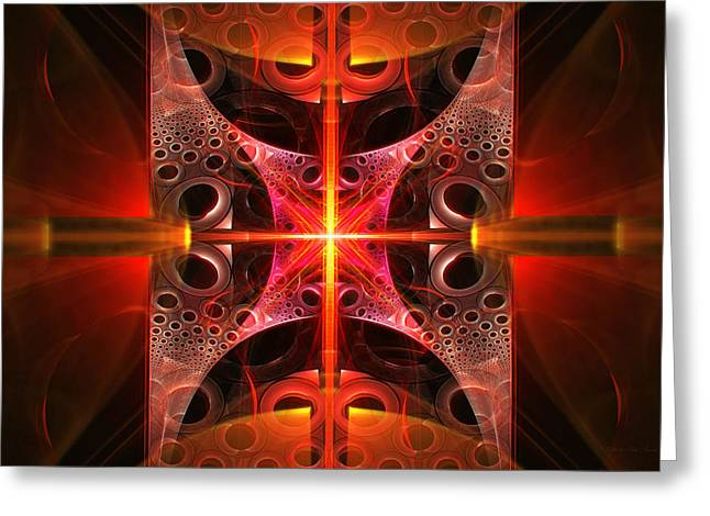 Fission Greeting Cards - Fractal - Science - Cold Fusion Greeting Card by Mike Savad