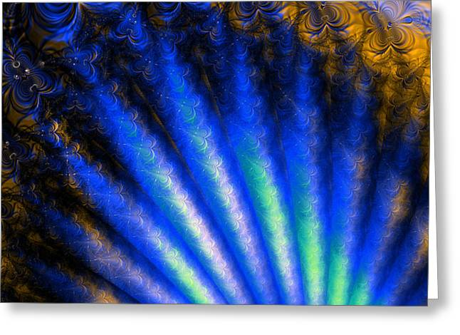 Geometric Effect Greeting Cards - Fractal Shell Greeting Card by Ian Mitchell