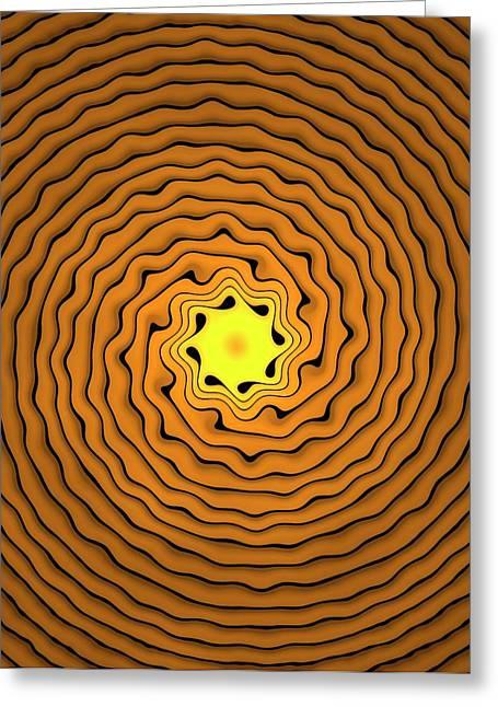 Fractal Spirals Greeting Card by David Parker