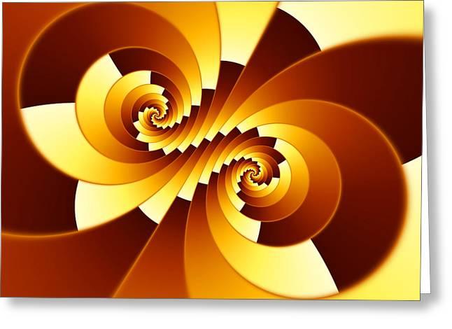 Fascinated Digital Art Greeting Cards - Fractal Stepped Spiral Greeting Card by Hakon Soreide