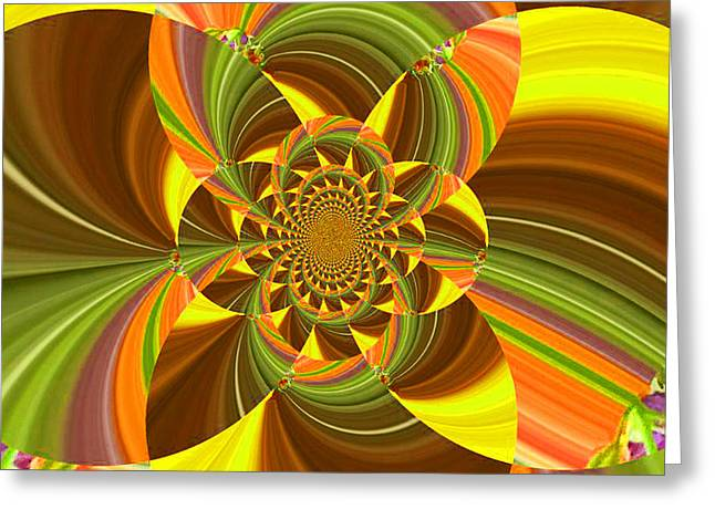 Stamen Digital Art Greeting Cards - Fractal - Summer Into Fall - Luther Fine Art Greeting Card by Luther  Fine Art