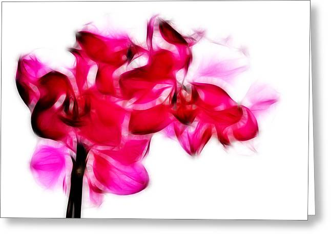 Orchids Digital Art Greeting Cards - Fractalius pink orchid Greeting Card by Sharon Lisa Clarke
