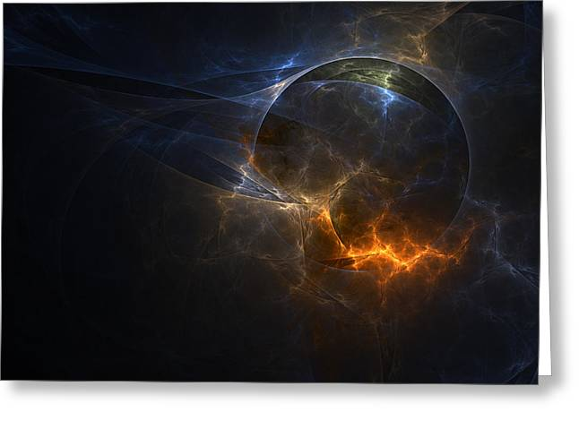 Fractal Orbs Greeting Cards - Fracture Greeting Card by Natasha Mohr
