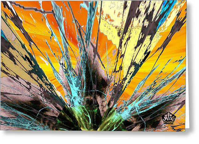 Seth Weaver Greeting Cards - Fractured Sunset Greeting Card by Seth Weaver